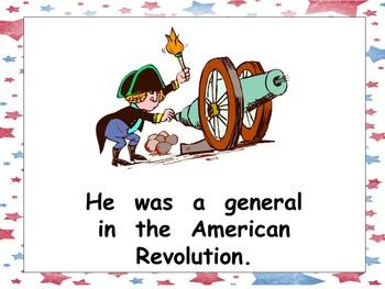 George Washington- Shared Reading Kindergarten and First Grade- Presidents Day