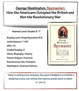 George Washington, Spymaster - Lesson Plan