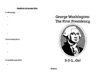 George Washington: The First Presidency 3-2-1