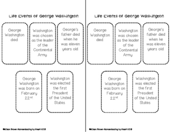 George Washington Biography and Timeline Activity