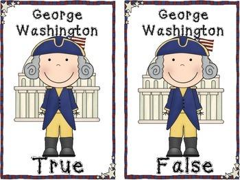 George Washington True and False Pocket Chart Activity