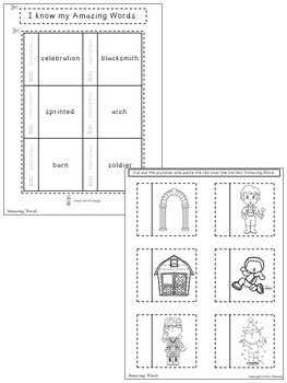 George Washington Visits Interactive Notebook ~ Reading Street Kindergarten