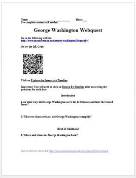 George Washington Webquest