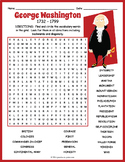 George Washington Word Search Puzzle
