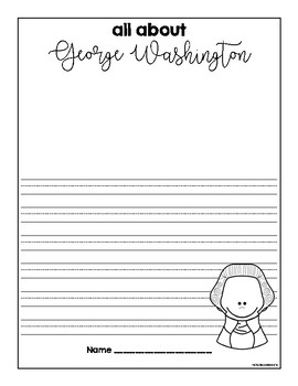 George Washington Writing Sheets