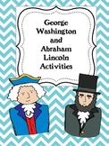 George Washington and Abraham Lincoln Activities