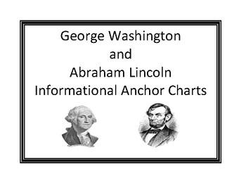 George Washington and Abraham Lincoln Informational Anchor Charts