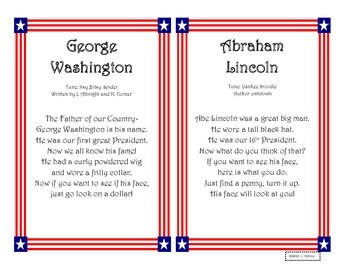 George Washington and Abraham Lincoln Poems and Fact Sort