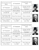 George Washington and Abraham Lincoln Sorting (2 per page)