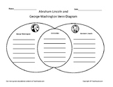 George Washington and Abraham Lincoln Venn Diagram Presidents Day