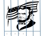 George Washington and Abraham Lincoln cut and paste puzzle
