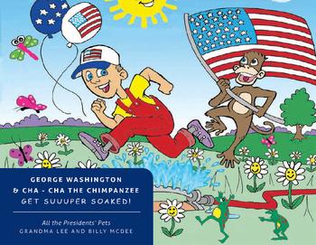 George Washington and Cha - Cha the Chimpanzee Get Super Soaked!