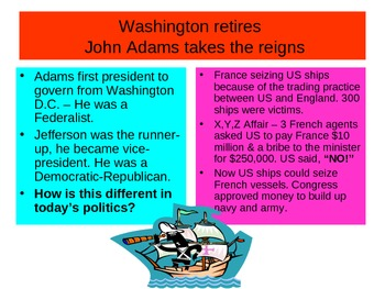 George Washington and John Adams Presidency Slideshow