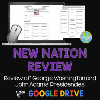 George Washington and John Adams Review Packet