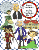 George Washington and Martha Washington Clip Art
