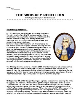 George Washington and the Whiskey Rebellion
