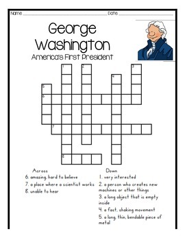 George Washington comprehension packet