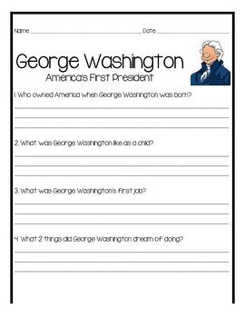 George Washington comprehension packet