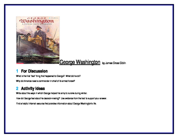 George Washington for Literature Circles