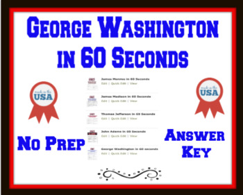 George Washington in 60 seconds