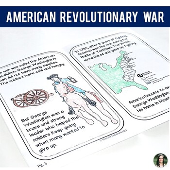George Washington & The Revolutionary War (10 page mini book)