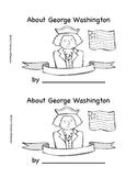 George Washington mini book/reader for President's Day
