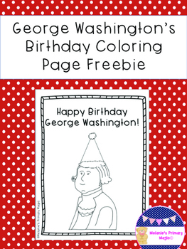 George Washington's Birthday Coloring Page Freebie
