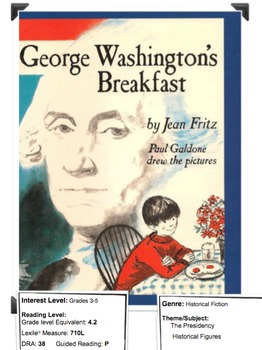 George Washington's Breakfast by Fritz Lesson Plan