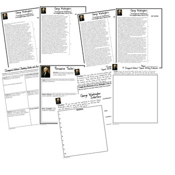 George Washington's First Inaugural Address Speech Analysis & Writing Activity