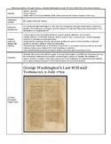 George Washington's Last Will and Testament Document Analysis