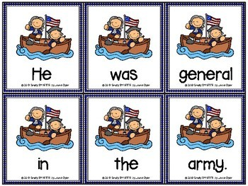 George Washington's Scrambled Sentences:  LOW PREP Sentence Building Activity
