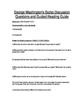 George Washington's Socks Guided Reading and Discussion Questions