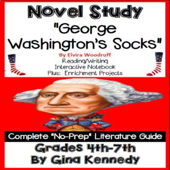 george washington s socks novel study enrichment project menu by rh teacherspayteachers com George Washington's Socks Movie George Washington S Book Socks