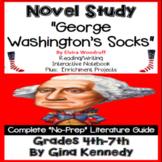 George Washington's Socks Novel Study & Project Menu; Plus Digital Option
