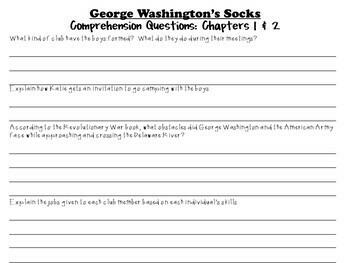 George Washington's Socks by Elvira Woodruff: A Complete Novel Study!