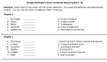 George Washington's Socks lit study