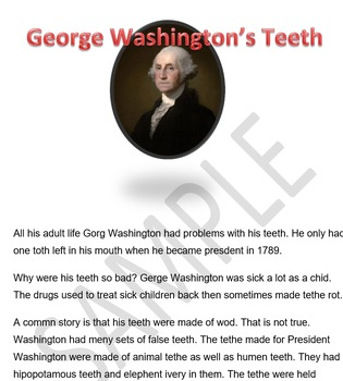 George Washington's Teeth - A Spell Check History Lesson