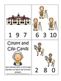 George Washington themed Count and Clip Cards.  Preschool