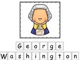George Washington themed Match the Letters preschool learn