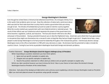 George Washington's Decisions