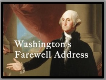 George Washington's Farewell Address Common Core Ready, DBQ