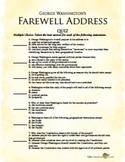 George Washington's Farewell Address Quiz