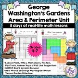 George Washington Gardens Area & Perimeter Unit & Slideshow (8 Days of Lessons)
