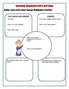 George Washington's Mother - Common Core Book Study