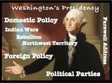 George Washington's Presidency: Common Core Ready Unit Bundle