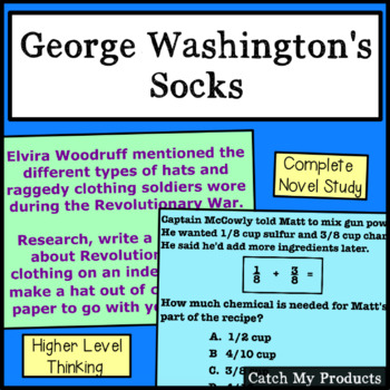 George Washington's Socks : A Complete Literary Unit on Power Point