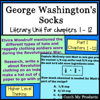 George Washington's Socks Chapters 1 -12 for PROMETHEAN Board