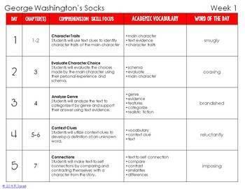 George Washington's Socks Foldable Novel Study Unit