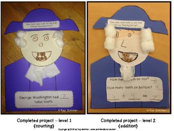 George Washington's Teeth {math craftivity}