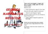 George's Marvellous Medicine Advert Writing Cards